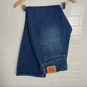 LEVIS Blue Medium-Wash Boot-Cut Jeans